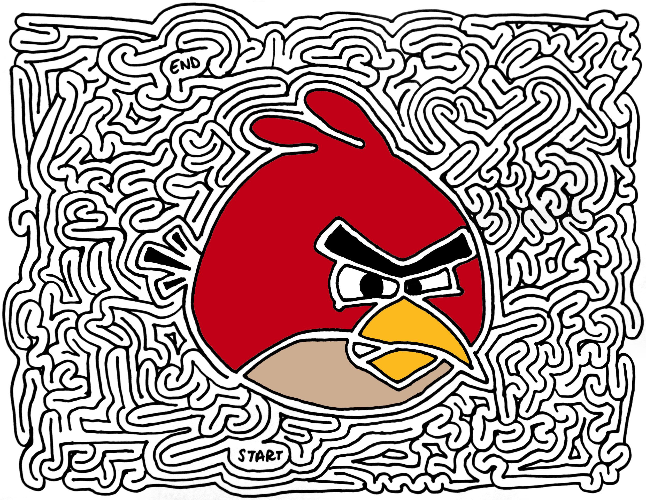 Angry Birds Maze Via Ericjeckert Mazes