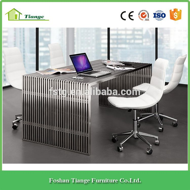 tempered glass office desk. Contemporary Design Tempered Glass Table Top Amici Stainless Steel Office Desk T