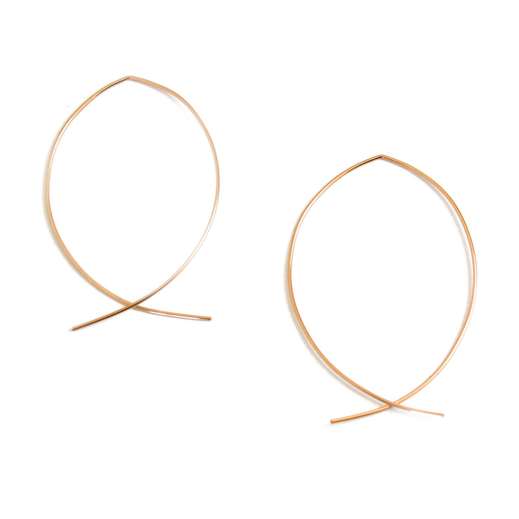 Dana Reed Large Pisces Earrings (Rose Gold)