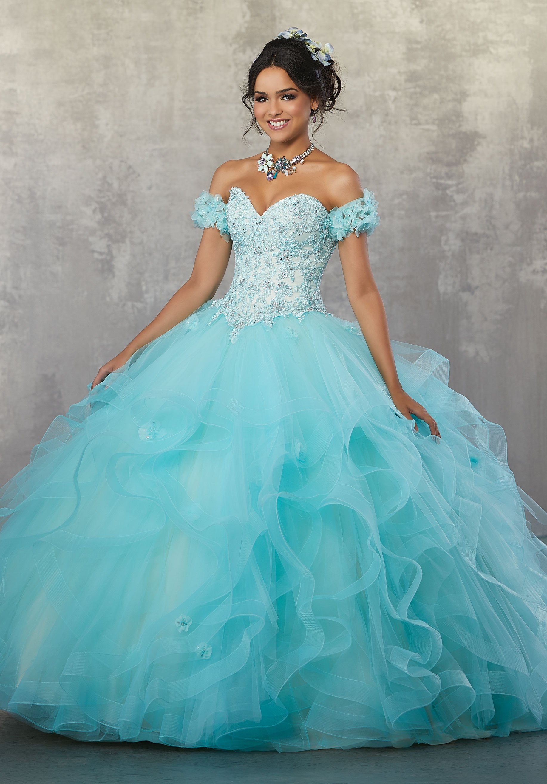 7b71b9c066 Strapless Lace Quinceanera Dress by Mori Lee Vizcaya 89174 in 2019 ...