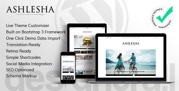 Ashlesha - Blog WordPress Theme (Personal) - http://wpskull.com ...