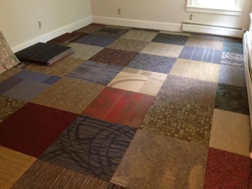 Versatile Assorted Pattern Commercial Peel And Stick 2 Ft X 2 Ft Carpet Tile 10 Tiles Case Ncvt001 At The Home De Industrial Carpet Carpet Tiles Diy Carpet