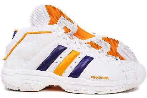 adidas Men's Pro Model 2G NBA Lakers Basketball Shoe,White