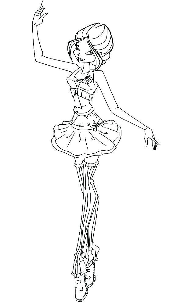 Ballerina Coloring Page Ballet Coloring Pages Ballerina Coloring