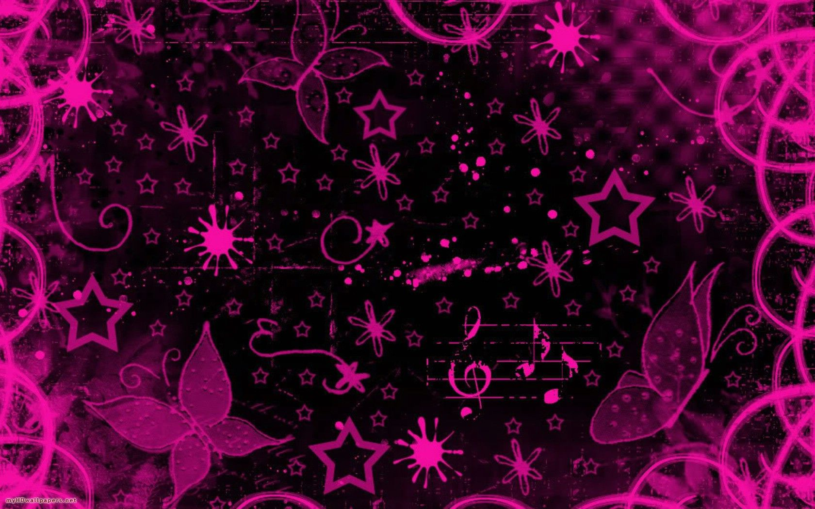 Pink black design Free Desktop Wallpaper, HD Wallpapers