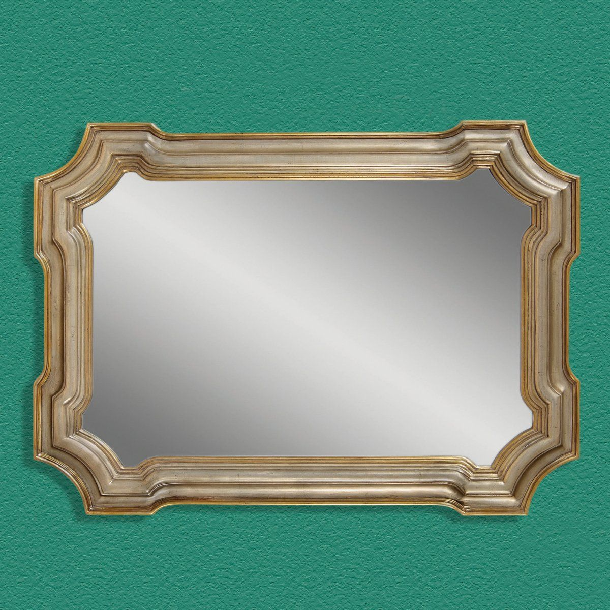 Gold & Silver Leaf Decorative Mirror - 43W x 31H in.