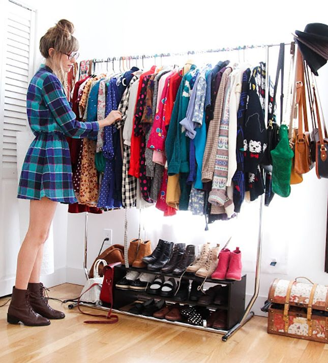 Wonderful 14 Inspiring Ideas For Styling Small Spaces Via Brit + Co. Embrace The Clothes  Rack