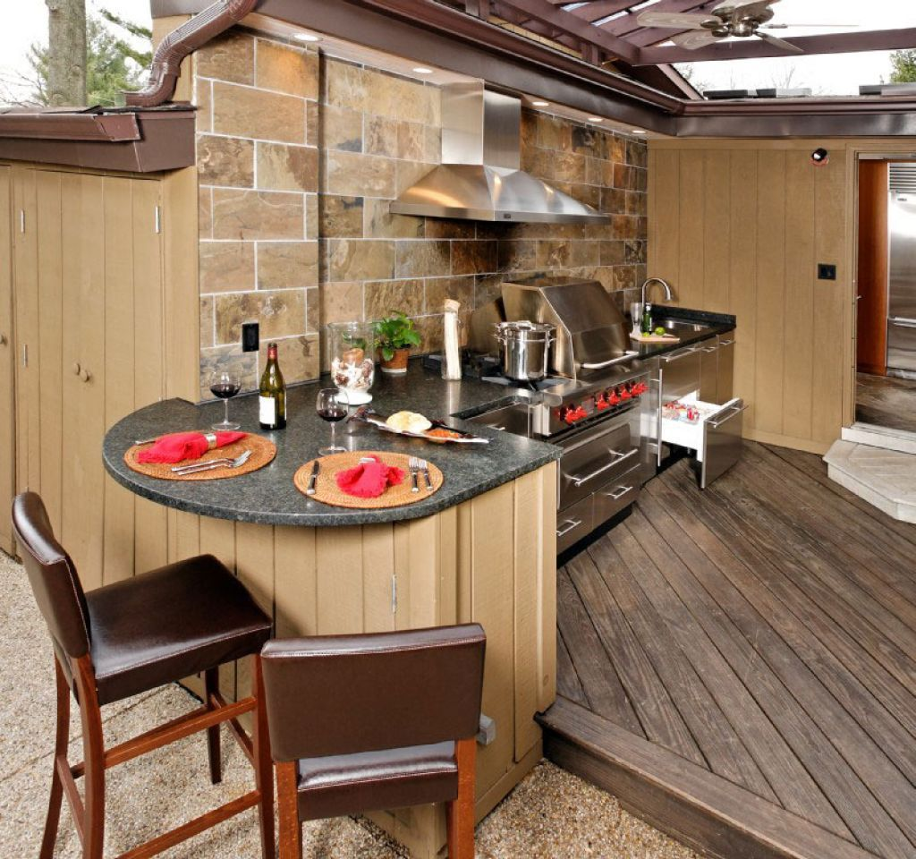 Outdoor Kitchen Wood Countertops: Kitchen , Incredible Outdoor Kitchen Ideas; Extra Charming