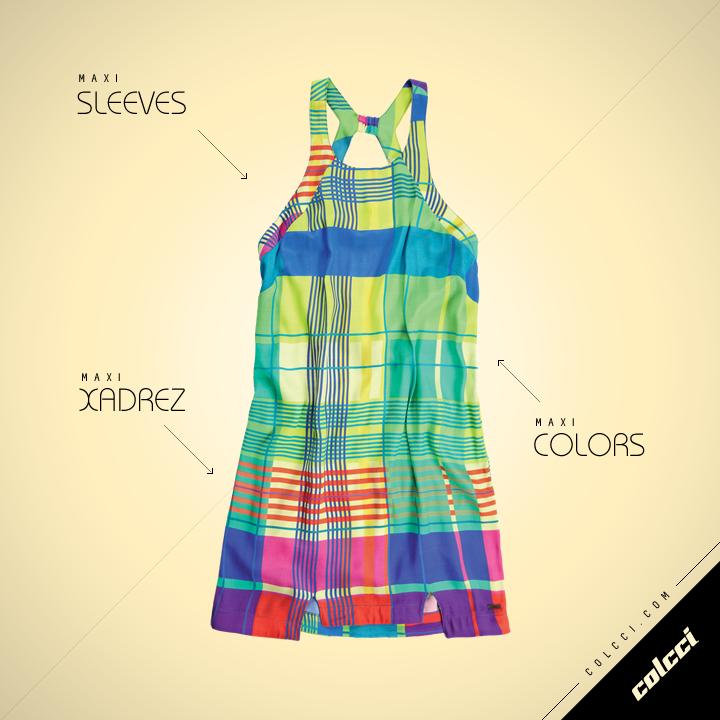 #Colcci #Dress #MaxiSleeves #Colors