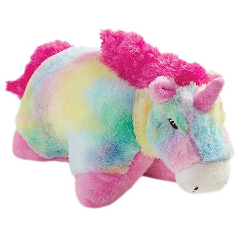 "Pillow Pets Authentic Rainbow Unicorn 30"" Jumbo Folding"