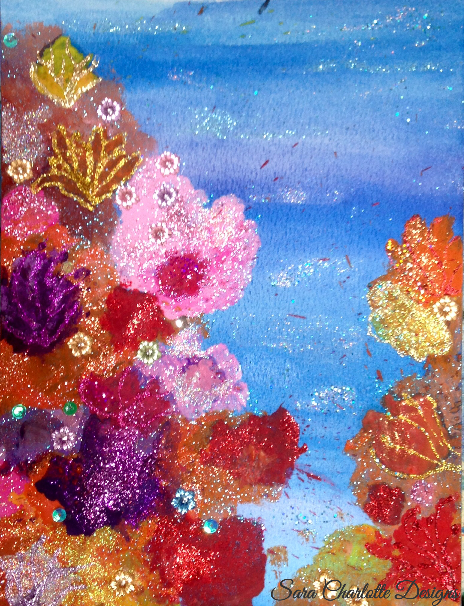 Abstract Coral Reef Painting in 2020 | Painting, Artwork ...