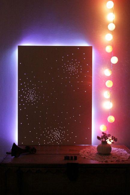 decoration murale led. Black Bedroom Furniture Sets. Home Design Ideas