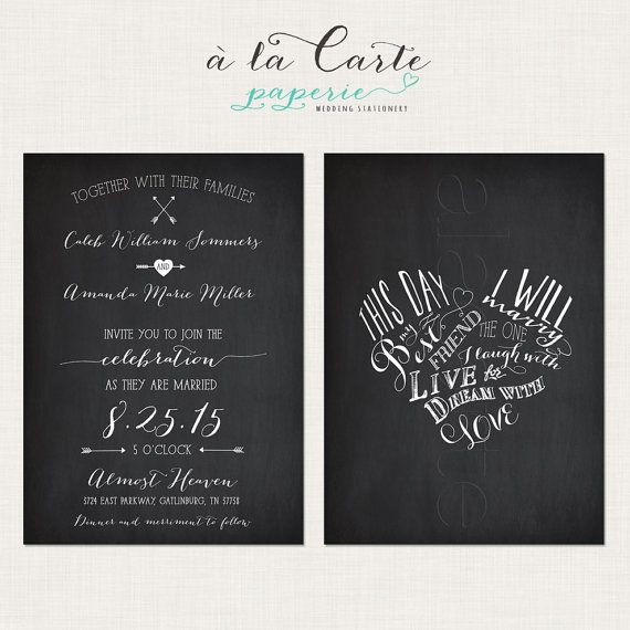 This day i will marry my best friend chalkboard inspired wedding this day i will marry my best friend chalkboard inspired wedding invitation card stopboris Gallery
