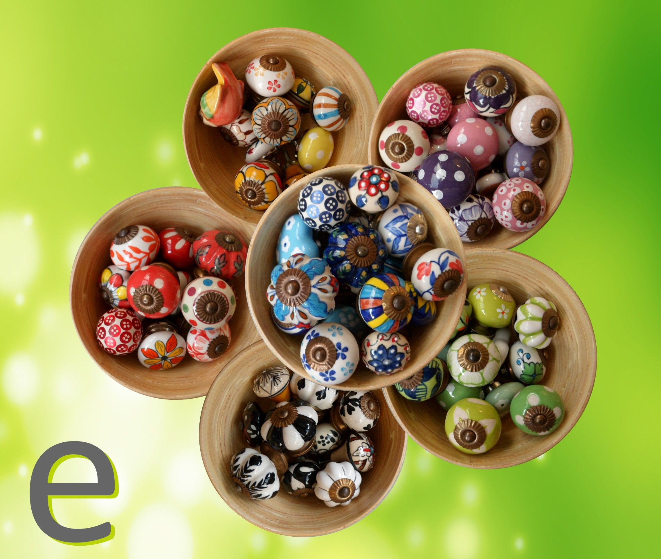 pomelli, suddivisi per colore... | Nuovi pomelli di ceramica | Pinterest