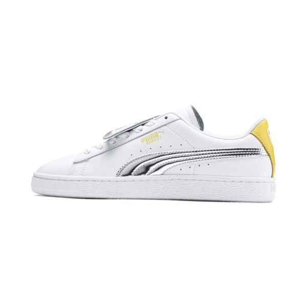 Puma Basket Yellow White Sneakers & Athletic Blazing Puma