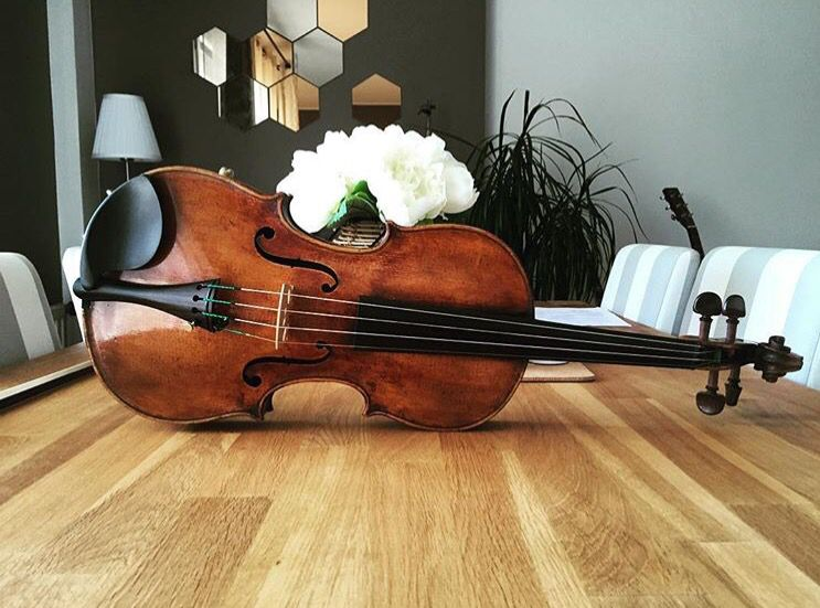 My new violin, from François-Hippolyte Caussin, 1880. Great sound, beautiful lutherie