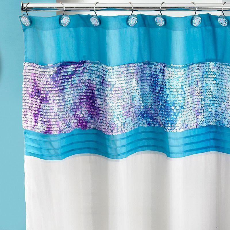Tammi Fabric Shower Curtain, Blue