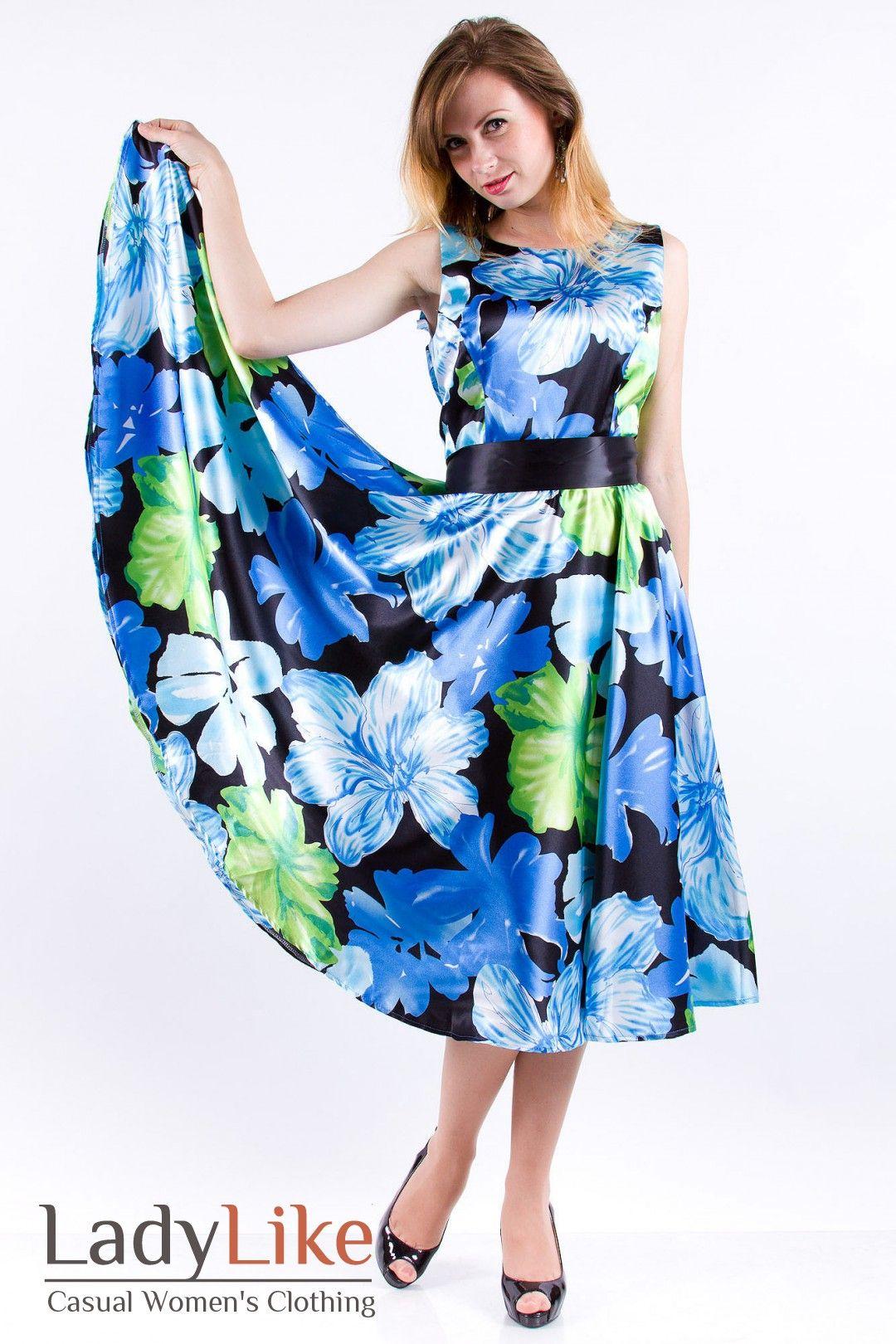 Blue floral satin sleeveless long dress satin pinterest satin