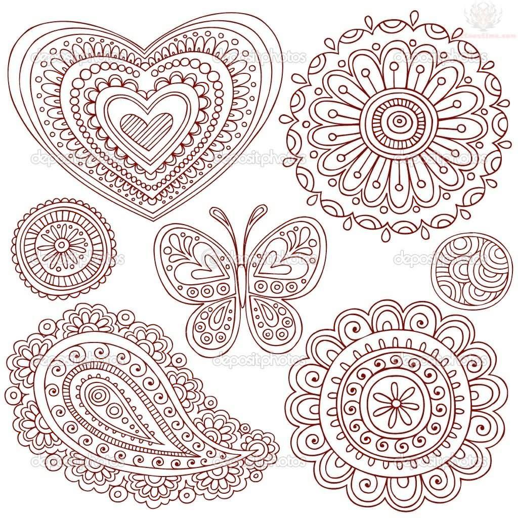 Mehndi Patterns Templates : Paisley pattern henna tattoo designs angela art