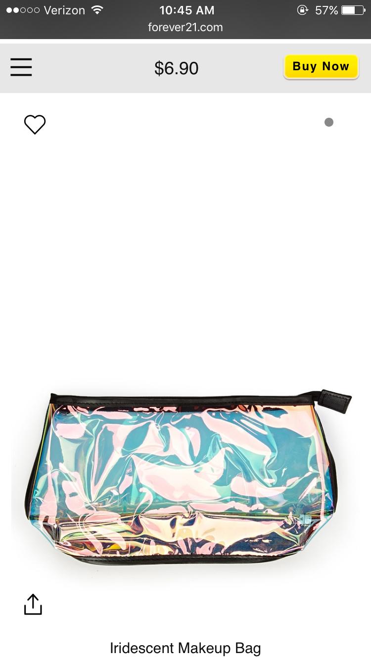 Pin by Kay on Bags Bags, Makeup bag, Iridescent makeup