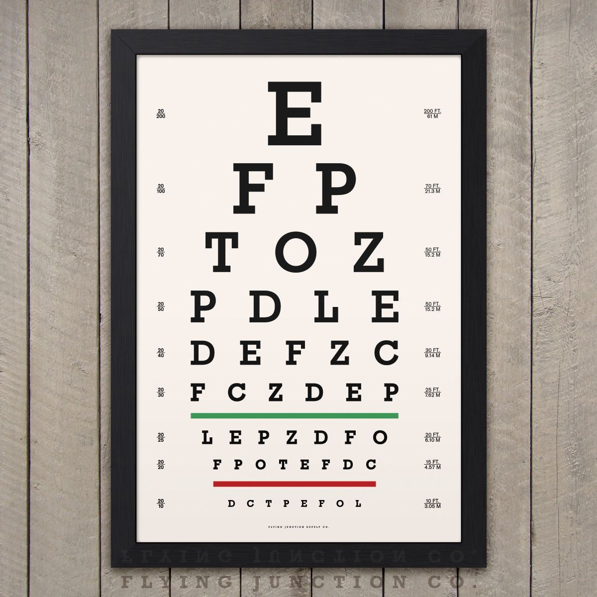 Eye chart print classic snellen chart eye and frame sizes eye chart print classic snellen nvjuhfo Gallery