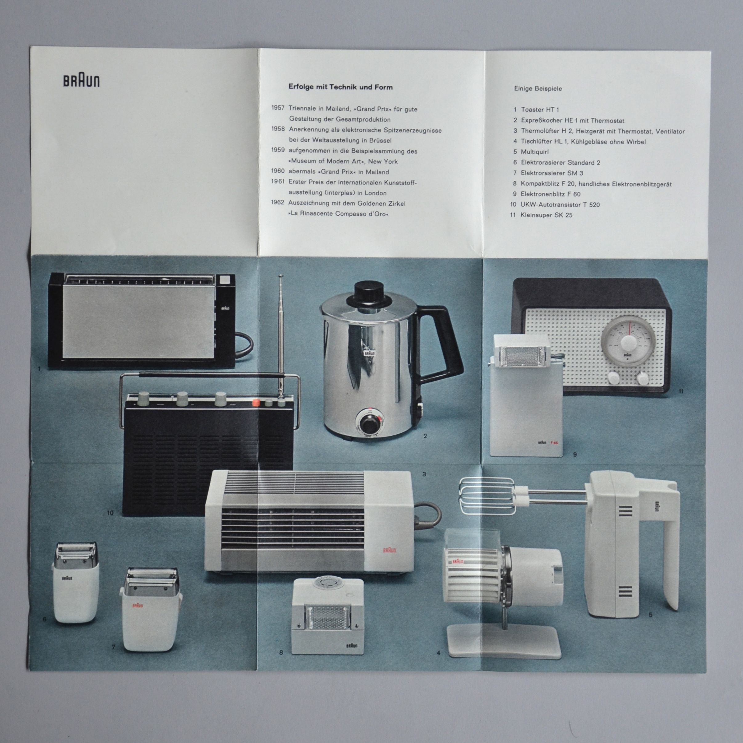 Minimalist Brochure Turquoise Braun Dieterrams Print Dieter