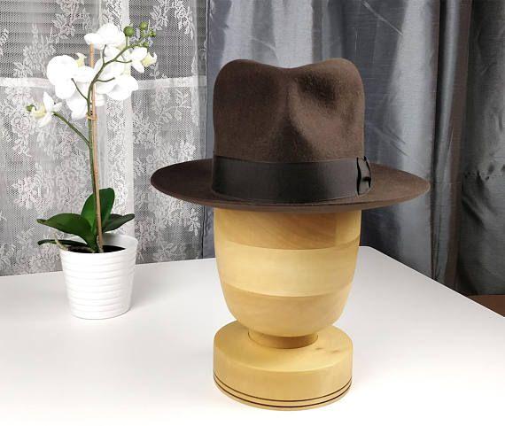 INDIANA JONES FEDORA Rabbit Fur felt Hat Custom Made with  5d14df2907e