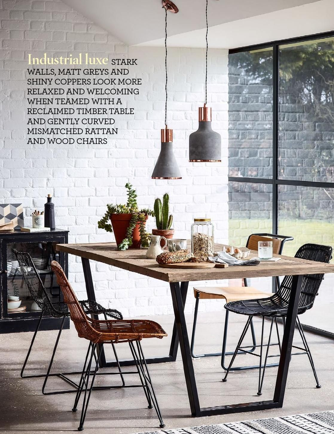 industrial dining room table and chairs. Dining Room Furnished In A Modern Style - Living Ideas And Interior Design Tips, If You Are Planning To Renovate Your Home Or Set Up New Home, Industrial Table Chairs