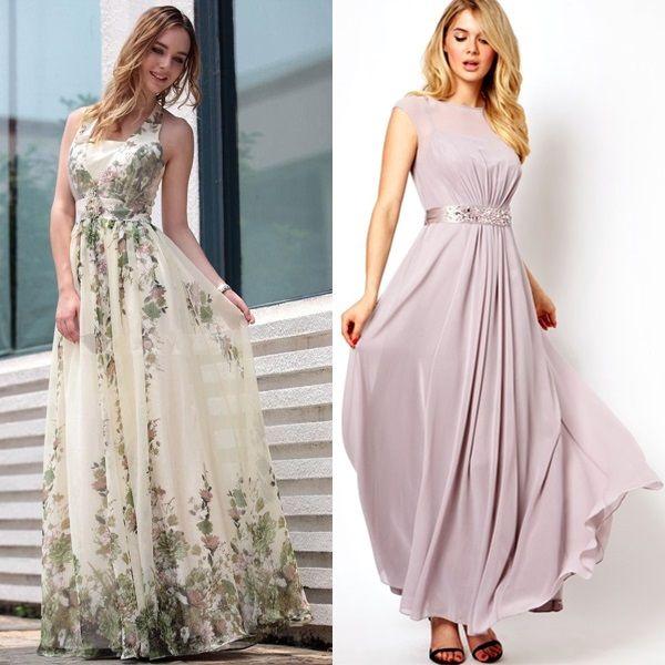 Simple Elegant 2015 Women Summer Wedding Dresses Flowing: Classy Elegant Bohemian Style Dresses