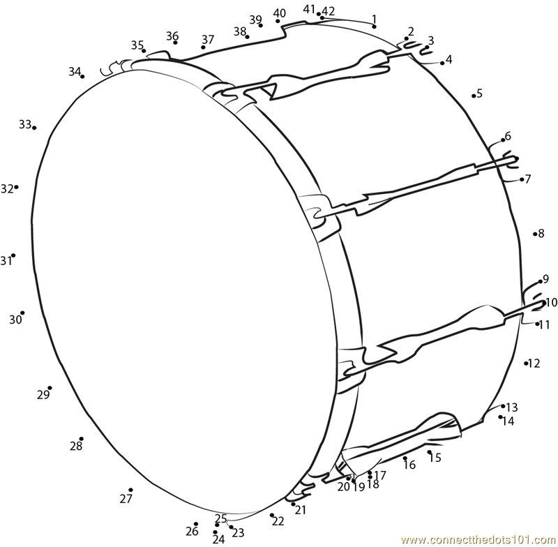 Connect The Dots Bass Drum Worksheet Dot To Dots Page