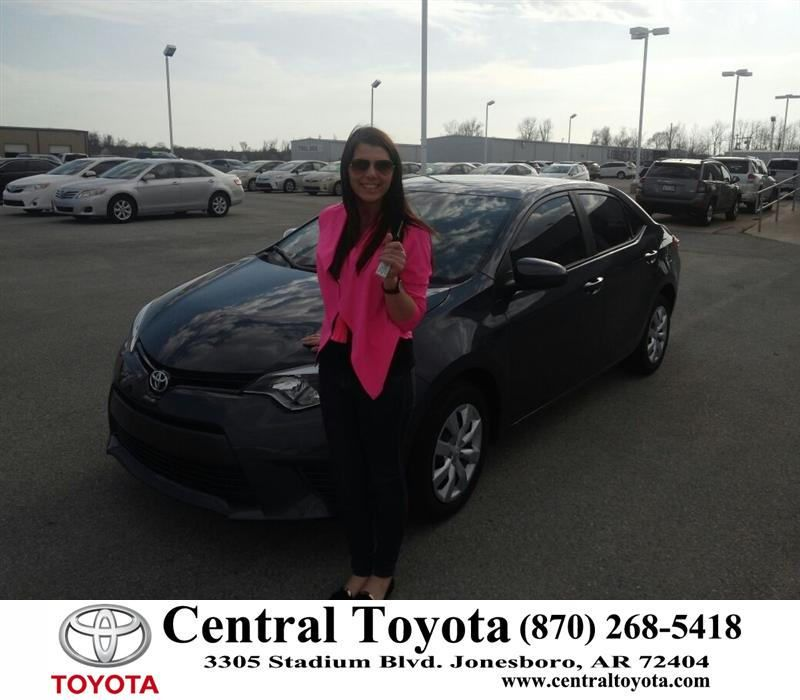 Congratulations To Hannah Pack On Your Toyota Corolla Purchase From Jason Taylor At Central Toyota Newcar Toyota New Cars Happy Anniversary