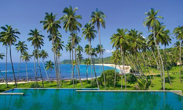 Amanwella Contemporary Beach Resort In A Coconut Grove Overlooking Crescent Of Golden Sand About Two Hours Drive East Galle