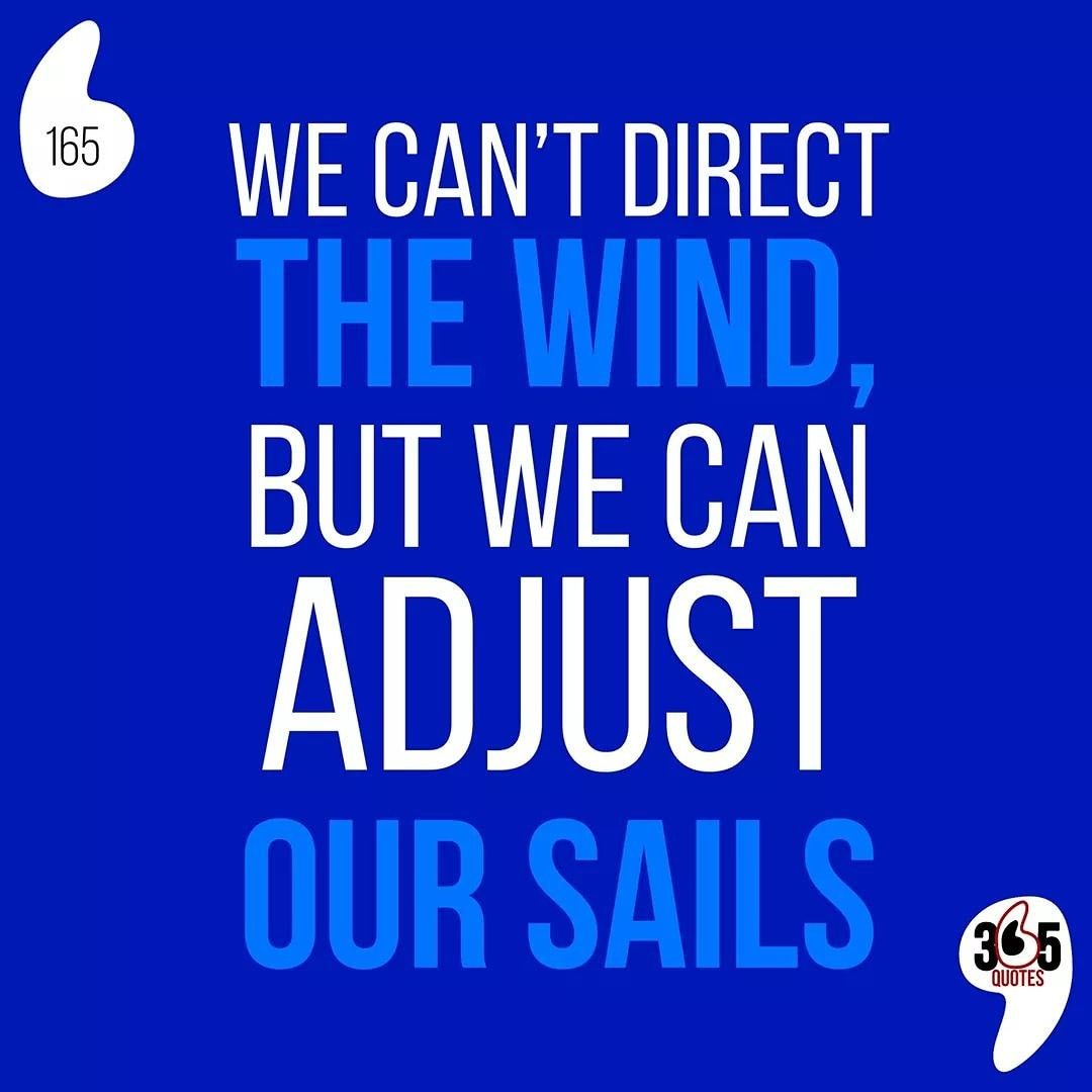 We Can T Direct The Wind But We Can Adjust Our Sails 365 Quotes 365quotes Funny Funnyqu 365 Quotes Funny Quotes Quotes