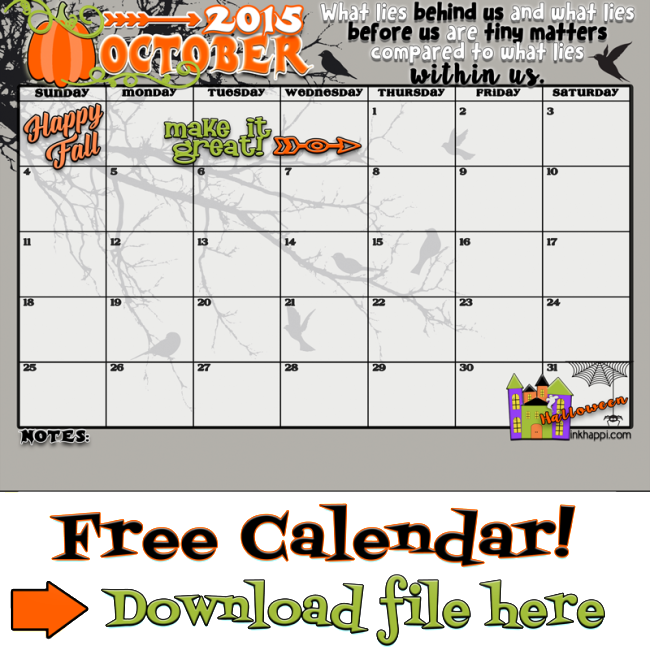 October  Calendar  Come And Get It  October Free