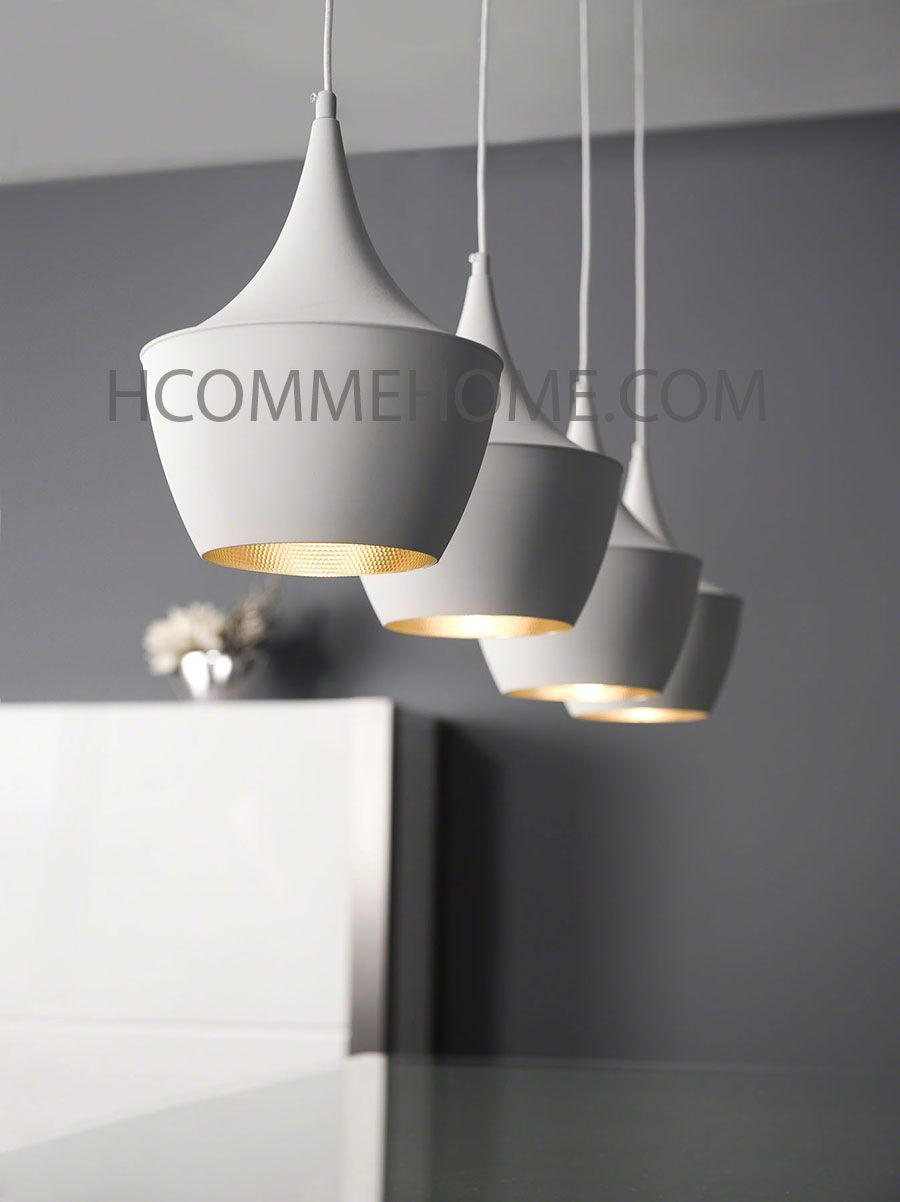 Luminaire suspension design noir ou blanc allegra 4 lampes eclairage pin - Lampe suspension cuisine design ...