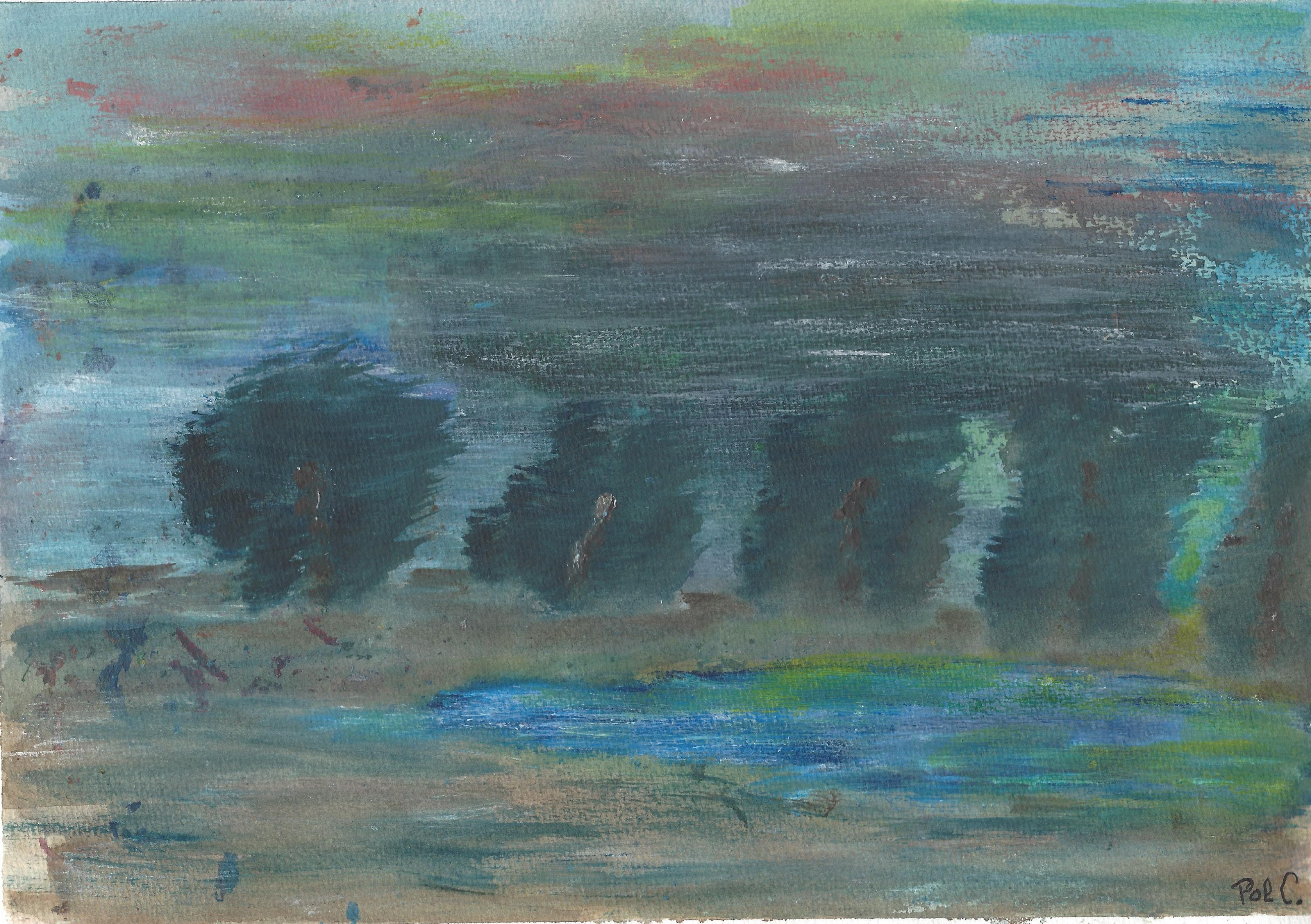 Storm (Acrylic on paper - 291215)