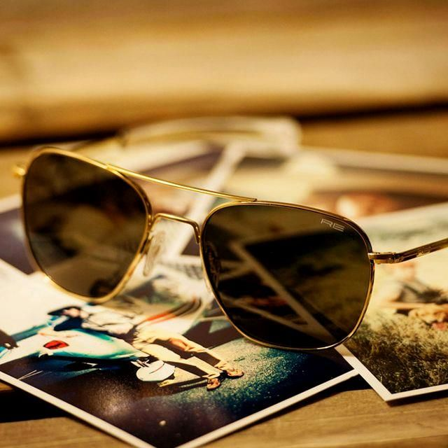 Randolph Engineering Randolph Engineering Aviator 23k Gold Plated Sunglasses T With Images Gold Frame Aviator Sunglasses Randolph Engineering Aviators Aviator Sunglasses