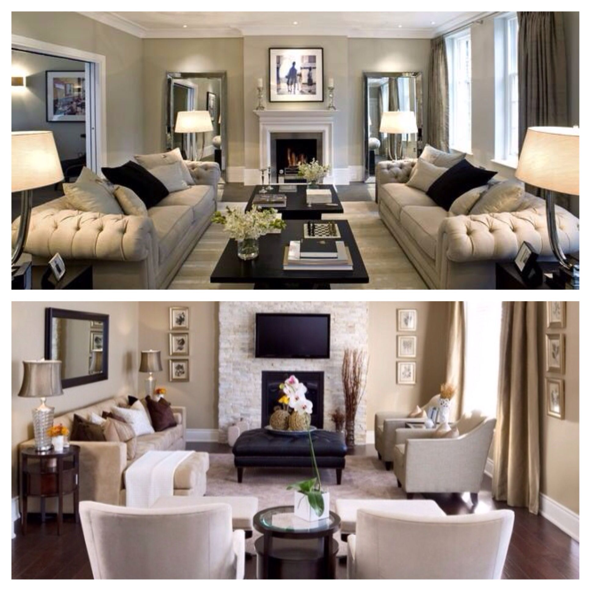 Two styles I'm combining for my future living room look
