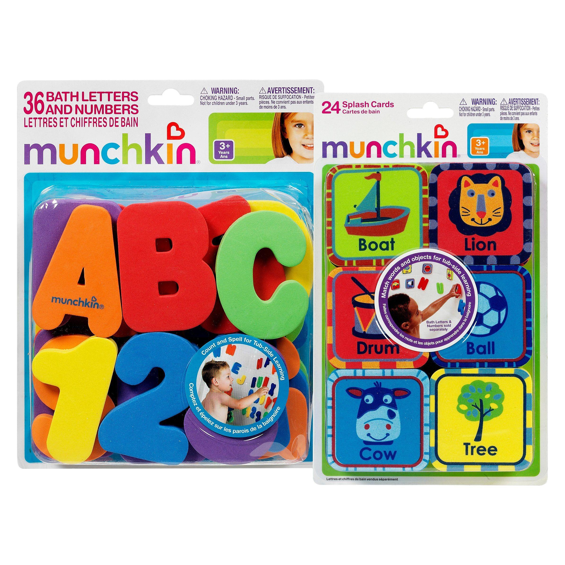 Munchkin 6opc Foam Bath Learning Toy Pack - Boy : Target ...