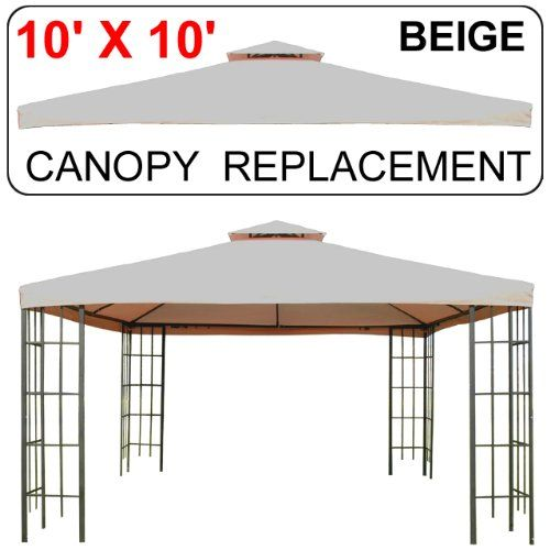 10u0027 X 10u0027 Gazebo Replacement Canopy Top Cover - Beige Double-Teir  sc 1 st  Pinterest : 10x10 canopy cover replacement - memphite.com