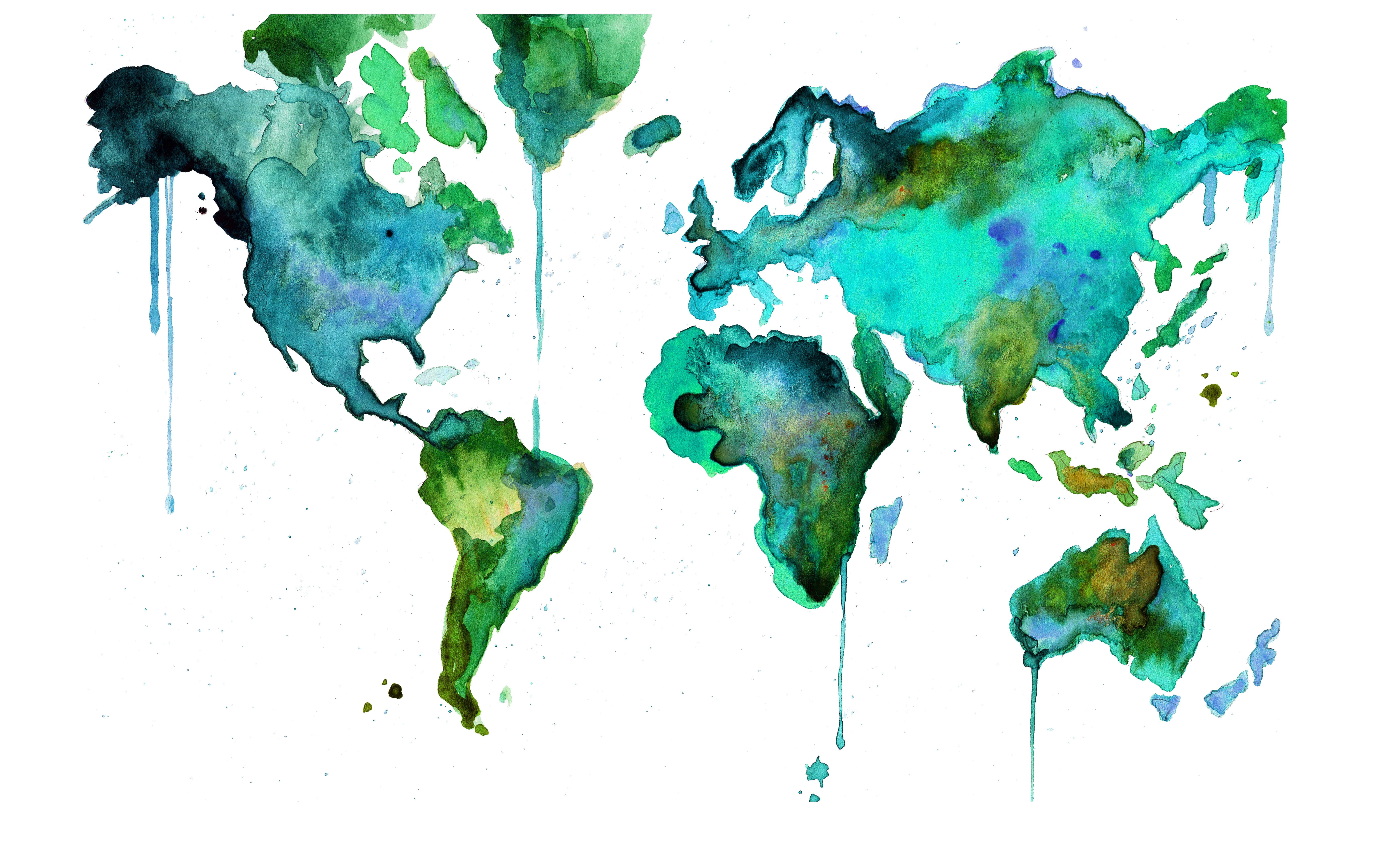 14 Best Photos Of Artistic World Map Watercolor Wood. Home Theater Decor. Modern Home Decor