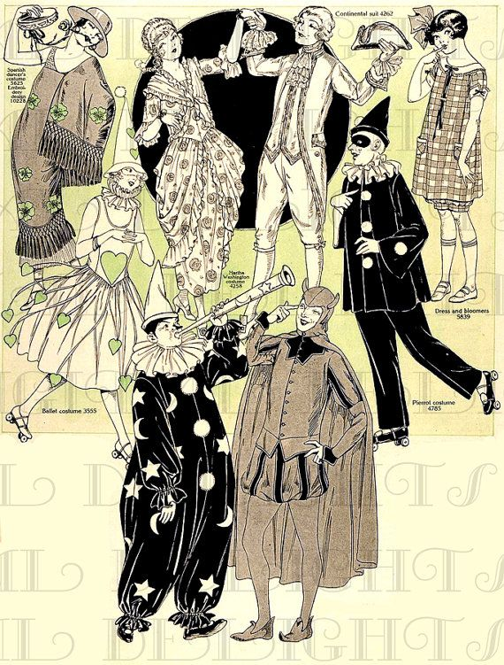 RARE. More 1920s Halloween Costumes. HALLOWEEN Digital Download. Vintage Illustration. Vintage Halloween Print on Etsy, $1.99