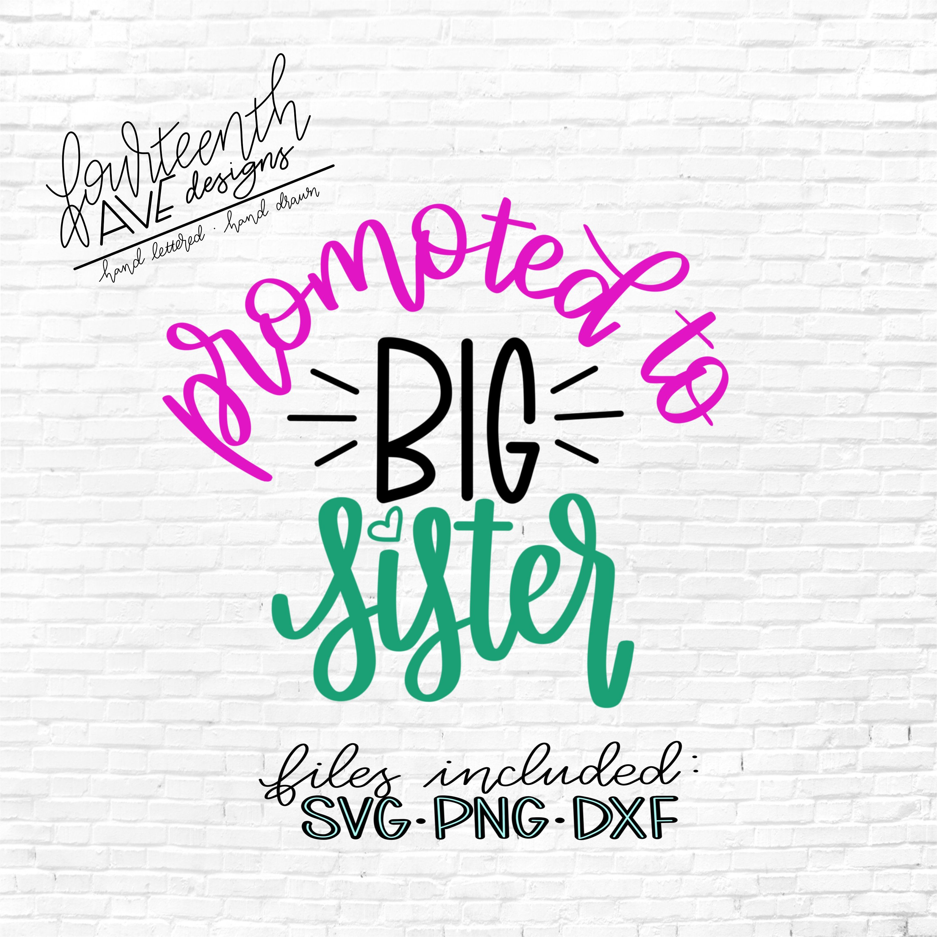 Download Big Sister Arrow – Svg, Png, Pdf Files – Hand Drawn Lettered Cut File – Graphic Overlay Crafter Files