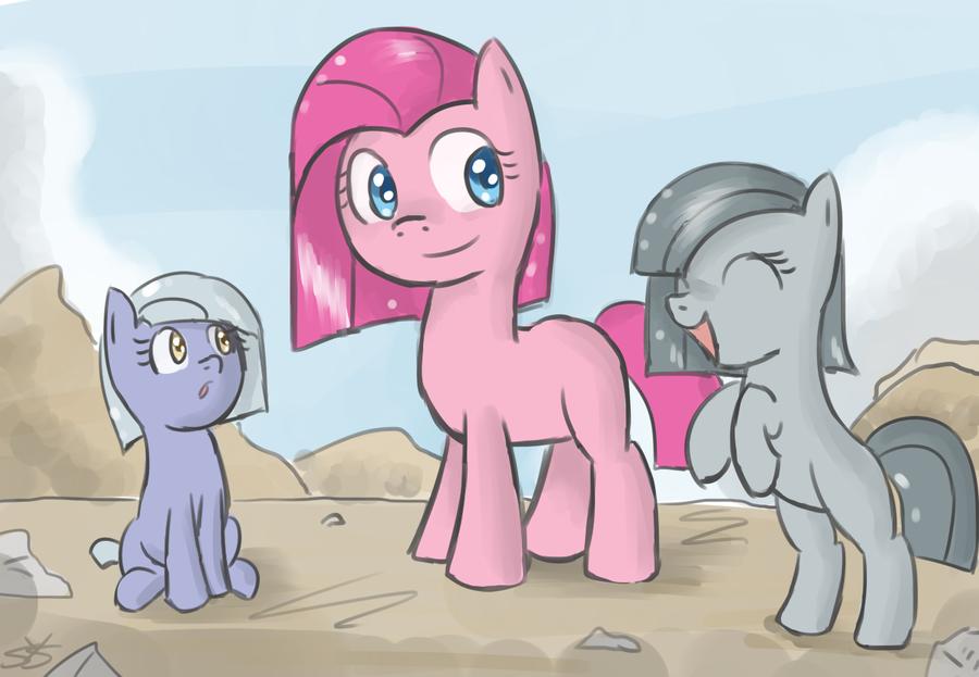 Pinkamina and her sisters.