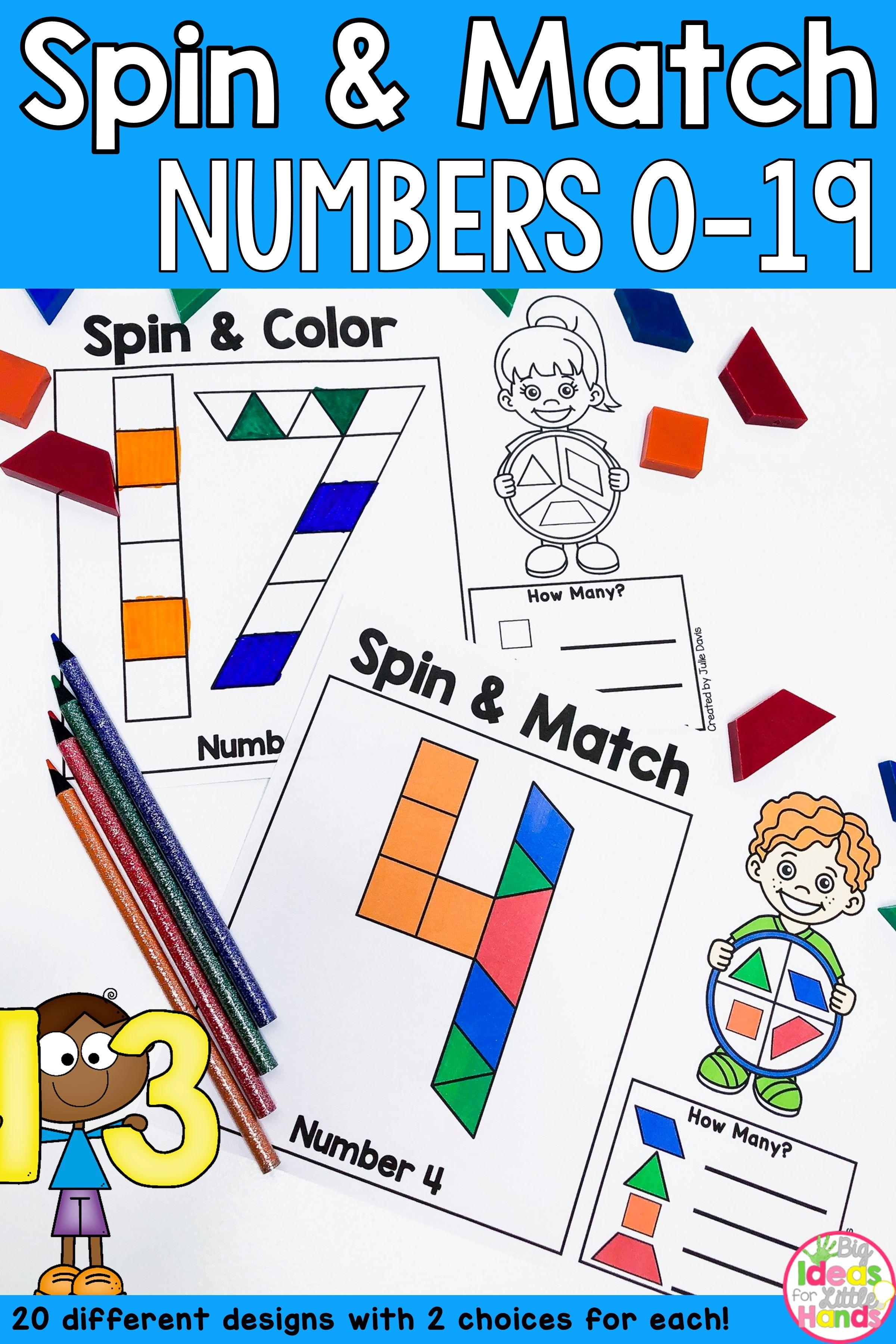 Pattern Blocks Mat Numbers Math Center