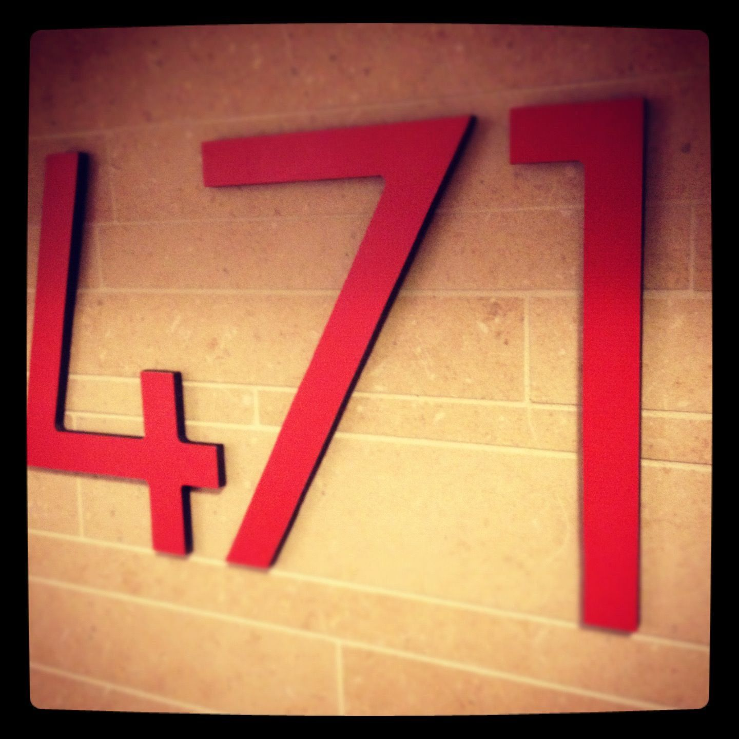 Modern House Number Eight inches tall in Tangerine by INgrain, $18.00