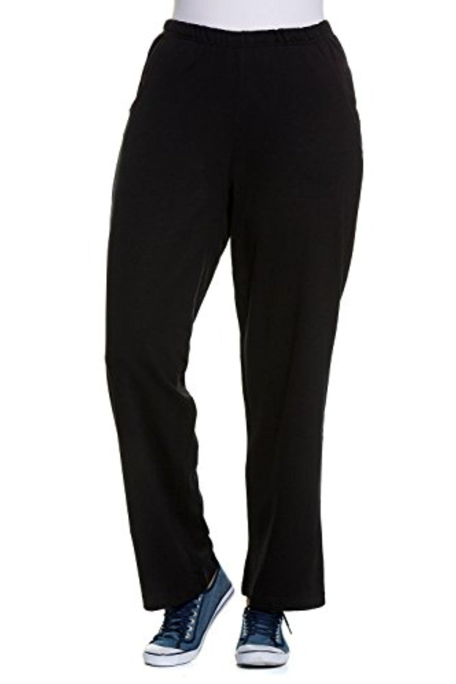 Ulla Popken Women S Plus Size Relaxed Fit All Day Cotton Pants Black 24 26 624781 10 Brought To You By Avarsha Com Cotton Pants Black Pants Pants