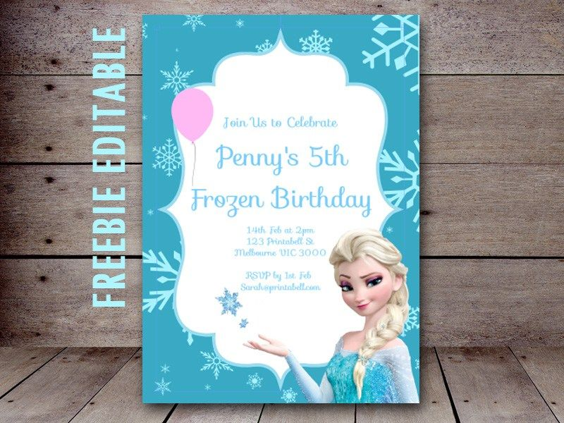Free Editable Birthday Invitations Instant Download Frozen Birthday Invitations Elsa Birthday Invitations Printable Birthday Invitations