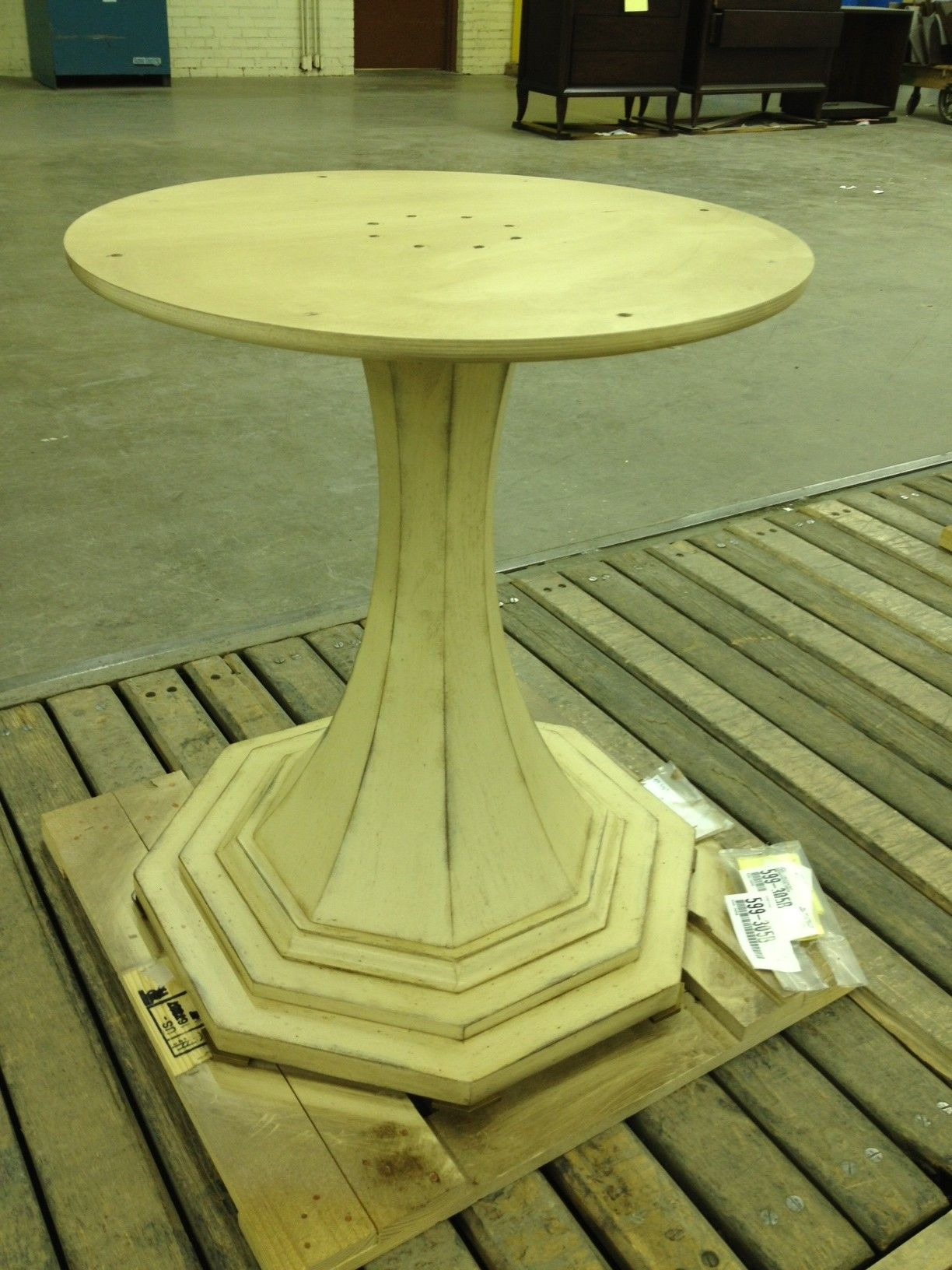 Consulate dining table base 599-303 in Aged Ivory. Beautiful!
