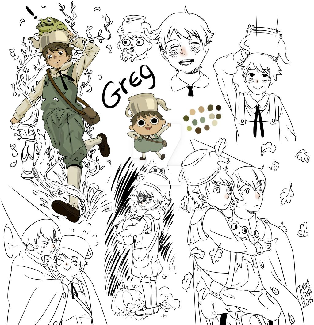 Garden wall art faces  Greg by dokinana  Cartoons  Pinterest  Fanart